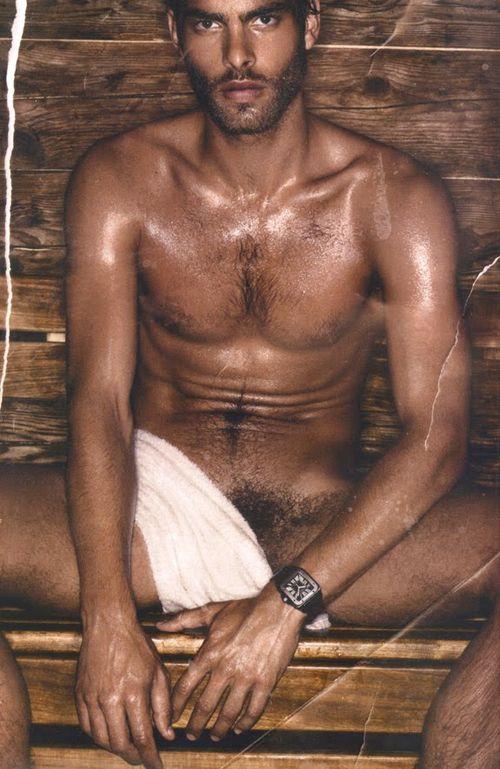 Vogue Hommes International Jon Kortajarena Naked At The Sauna