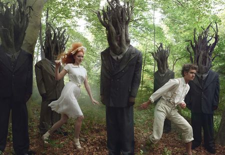 "VOGUE: Lily Cole, Andrew Garfield & Lady GaGa in ""Hansel and Gretel"" by Annie Leibovitz"