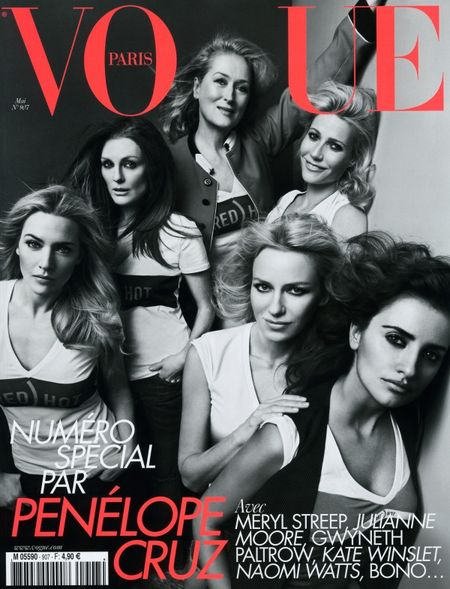 VOGUE PARIS Penelope Cruz, Naomi Watts, Gwyneth Paltrow, Meryl Streep, Julianne Moore & Kate Winslet by Inez & Vinoodh. Image Amplified www.imageamplified.com