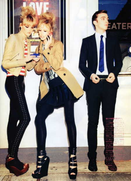 VOGUE NIPPON Nicholas Hoult, Raquel Zimmermann & Caroline Trentini in Call It Love by Ellen von Unwerth. Image Amplified www.imageamplified (7)