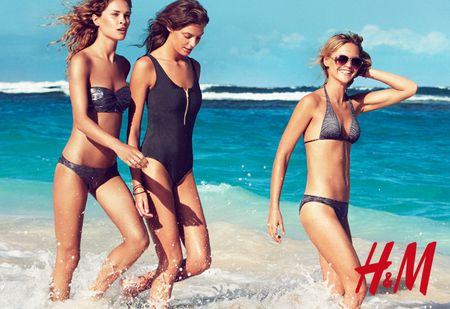 CAMPAIGN Daria Webowy, Sasha Pivarova, Julia Stegner & Lara Stone for H&M's Swimwear Collection Summer 2010 by Patrick Demarchelier. www.imageamplified.com, Image Amplified (1)