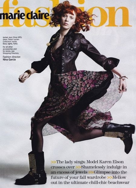 MARIE CLAIRE MAGAZINE Karen Elson in Showgirl by Simon Burstall. www.imageamplified.com, Image Amplified (6)