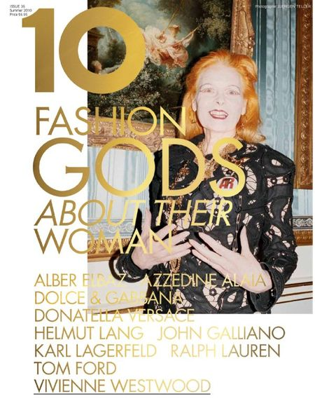 10 MAGAZINE Karl Lagerfeld, Tom Ford, Vivienne Westwood, Ralph Lauren, John Galliano, Donatella Versace, Dolce & Gabbana in 10 Years, 10 Covers, 10 Fashion Gods. www.imageamplified (6)