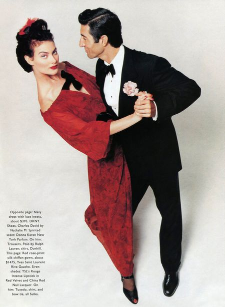 TIME CAPSULE Jordi Caballero & Shalom Harlow in Flash Back for Harper's Bazaar, December 1994 by Patrick Demarchelier. www.imageamplified.com, Image Amplified (5)
