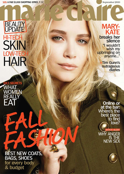 MARIE CLAIRE MAGAZINE Mary-Kate Olsen in Singular Sensation by Tesh. Alison Edmond, September 2010, www.imagemaplified.com, Image Amplified (4)