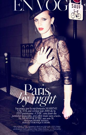VOGUE PARIS Marine Vacth in Paris by Night by Sharif Hamza. Veronique Didry, September 2010, www.imageamplified.com, Image Amplified (5)