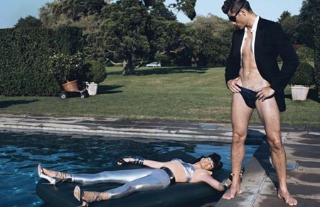 STYLE REWIND Tyson Ballou & Linda Evangelista in LoveHate for W Magazine, October 2008 by Steven Klein. Camilla Nickerson, www.imageamplified.com, Image Amplified (6)