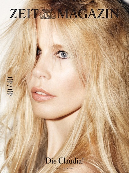 ZEIT MAGAZINE Claudia Schiffer in 40th Anniversary, 40 Covers by Frederike Helwig. 2010, www.imageamplified.com, Image Amplified (26)