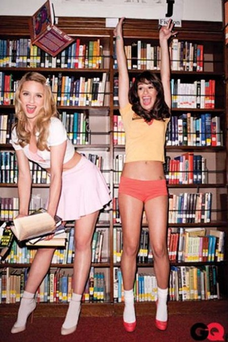 GQ MAGAZINE Lea Michele, Cory Montith & Dianna Agron in Glee Gone Wild! by Terry Richardson. November 2010, www.imageamplified.com, Image Amplified (9)