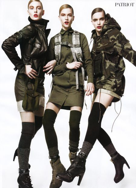 VOGUE Lara Stone, Daria Werbowy, Raquel Zimmerman, Sasha Pivovarova in The American Experience by David Sims. Image Amplified www.imageamplified (12)