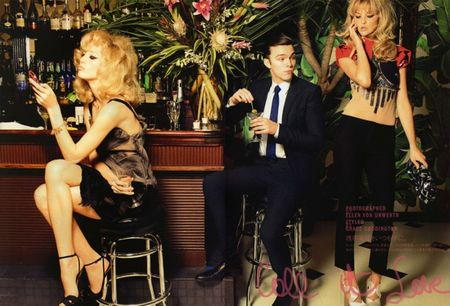 VOGUE NIPPON Nicholas Hoult, Raquel Zimmermann & Caroline Trentini in Call It Love by Ellen von Unwerth. Image Amplified www.imageamplified (4)