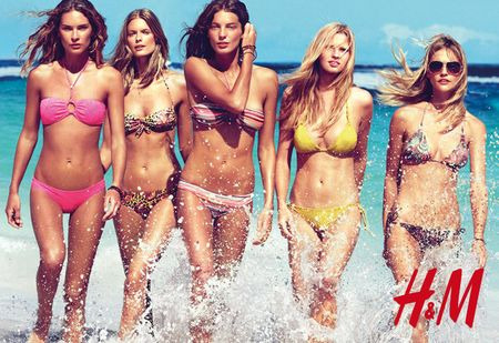 CAMPAIGN Daria Webowy, Sasha Pivarova, Julia Stegner & Lara Stone for H&M's Swimwear Collection Summer 2010 by Patrick Demarchelier. www.imageamplified.com, Image Amplified (5)