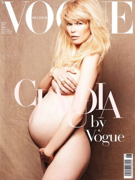 PREVIEW Claudia Schiffer on the Cover of June's Vogue Germany by Karl Lagerfeld. www.imageamplified.com, Image Amplified
