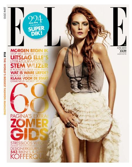 PREVIEW Nimue Smith on the Cover of June's Elle Neatherlands. www.imageamplified.com Image Amplified