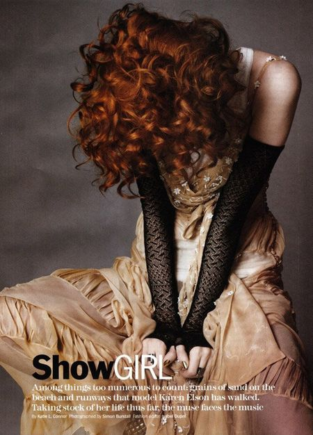 MARIE CLAIRE MAGAZINE Karen Elson in Showgirl by Simon Burstall. www.imageamplified.com, Image Amplified (5)