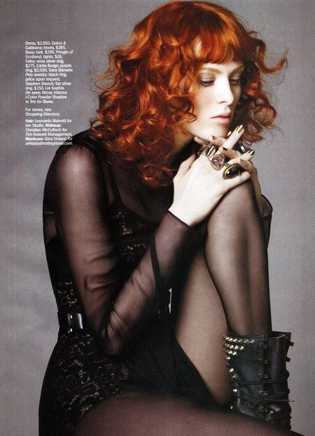 MARIE CLAIRE MAGAZINE Karen Elson in Showgirl by Simon Burstall. www.imageamplified.com, Image Amplified (2)