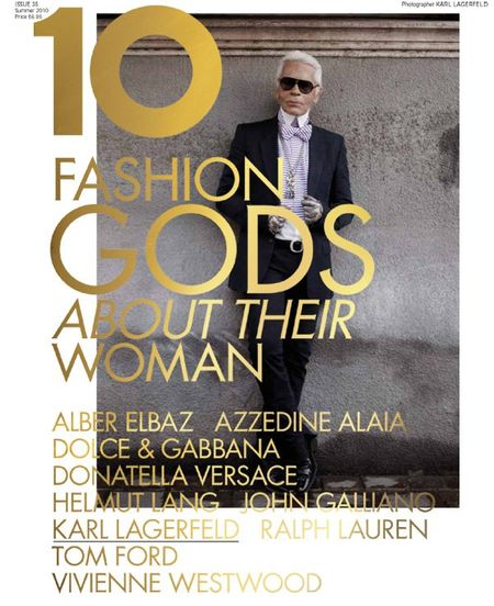 10 MAGAZINE Karl Lagerfeld, Tom Ford, Vivienne Westwood, Ralph Lauren, John Galliano, Donatella Versace, Dolce & Gabbana in 10 Years, 10 Covers, 10 Fashion Gods. www.imageamplified (8)
