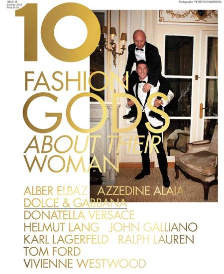 10 MAGAZINE Karl Lagerfeld, Tom Ford, Vivienne Westwood, Ralph Lauren, John Galliano, Donatella Versace, Dolce & Gabbana in 10 Years, 10 Covers, 10 Fashion Gods. www.imageamplified (10)