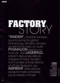 MADAME FIGARO MAGAZINE Vanessa Paradis in Factory Story by Karl Lagerfeld. www.imageamplified.com, Image amplified (12)
