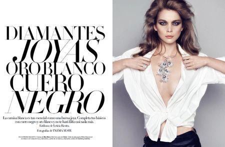 HARPER'S BAZAAR SPAIN Kim Noordana in Diamantes, Joyas, Oro Blanco y Cuero Negro by Txema Yeste. www.imageamplified.com, Image Amplified (6)