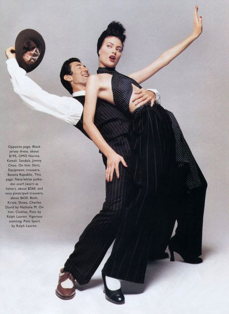 TIME CAPSULE Jordi Caballero & Shalom Harlow in Flash Back for Harper's Bazaar, December 1994 by Patrick Demarchelier. www.imageamplified.com, Image Amplified (3)