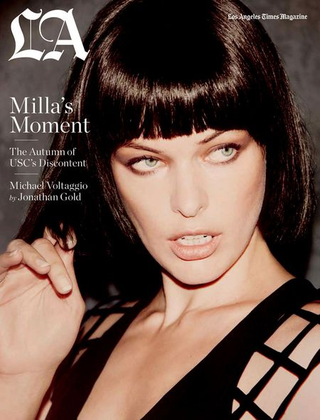 LOS ANGELES TIMES MAGAZINE Milla Jovovich in Milla's Moment by Guy Aroch. Hayley Atkin, September 2010, www.imageamplified.com, Image Amplified (1)