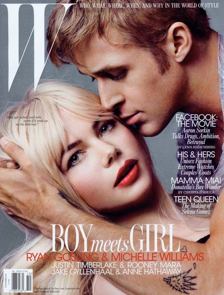 W MAGAZINE Michelle Williams & Ryan Goslin in Heart to Heart by Inez & Vinoodh. October 2010, www.imageamplified.com, Image Amplified (4)