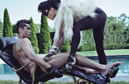STYLE REWIND Tyson Ballou & Linda Evangelista in LoveHate for W Magazine, October 2008 by Steven Klein. Camilla Nickerson, www.imageamplified.com, Image Amplified (3)