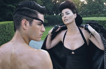 STYLE REWIND Tyson Ballou & Linda Evangelista in LoveHate for W Magazine, October 2008 by Steven Klein. Camilla Nickerson, www.imageamplified.com, Image Amplified (4)