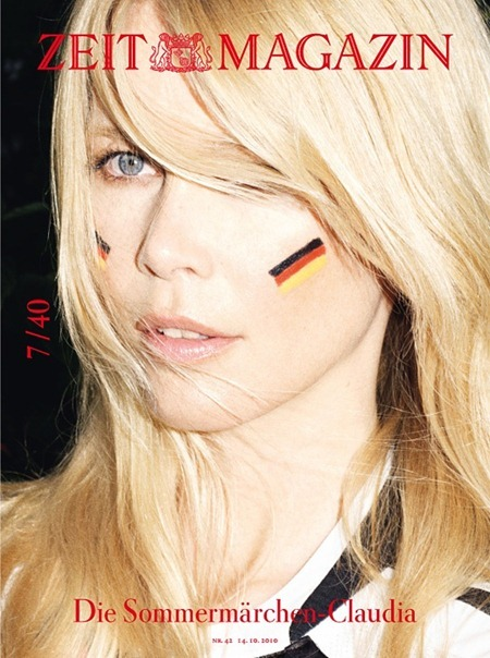 ZEIT MAGAZINE Claudia Schiffer in 40th Anniversary, 40 Covers by Frederike Helwig. 2010, www.imageamplified.com, Image Amplified (4)