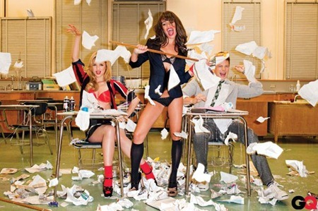 GQ MAGAZINE Lea Michele, Cory Montith & Dianna Agron in Glee Gone Wild! by Terry Richardson. November 2010, www.imageamplified.com, Image Amplified (12)
