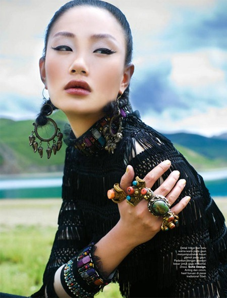HARPER'S BAZAAR INDONESIA Zhang Fan in 7 Days In Tibet by Nicoline Patricia Malina. Michael Pondaag, November 2010, www.imageamplified.com, Image Amplified
