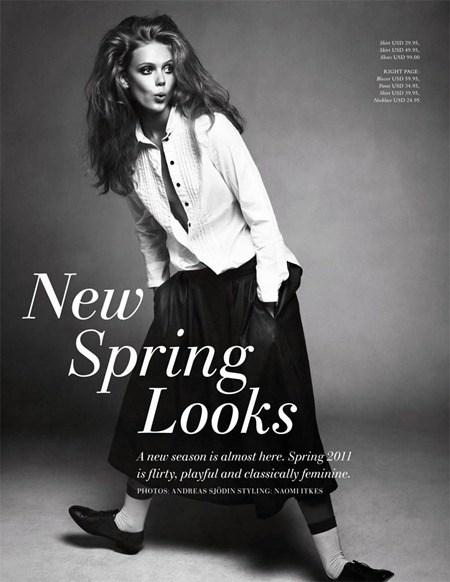 H&M MAGAZINE Frida Gustavsson in New Spring Looks by Andreas Sjodin. Naomi Itkes, Winter 2010, www.imageamplified.com, Image Amplified (8)