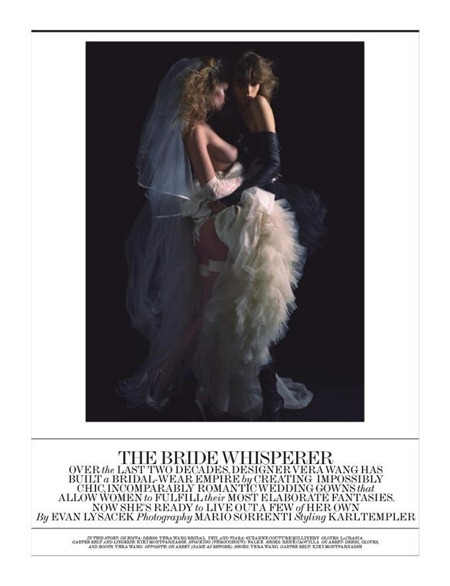 INTERVIEW MAGAZINE Abbey Lee Kershaw & Edita Vilkeviciute in The Bride Whisperer by Mario Sorrenti. Karl Templer, December 2010, www.imageamplified.com, Image Amplified (1)