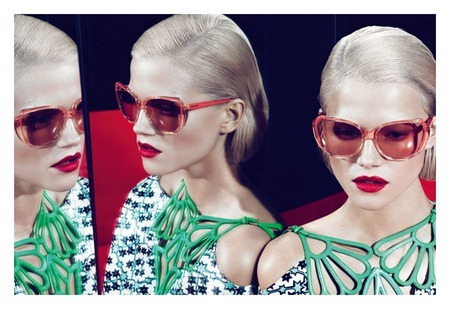 CAMPAIGN Sasha Pivovarova, Kasia Struss & Querelle Jansen for Miu Miu Spring 2011 by Mert & Marcus. www.imageamplified.com, Image Amplified (1)