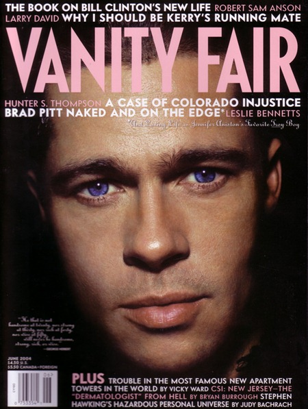 CELEBRITY STYLE REWIND Brad Pitt in Aspects of Brad by Nick Knight. Alister Mackie, June 2004, www.imageamplified.com, Image Amplified (3)