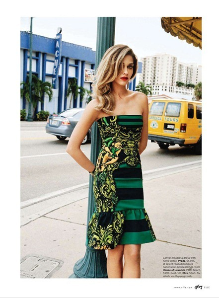 ELLE MAGAZINE Ana Beatriz Barros in Meet Me In Miami by Max Farago. February 2011, Francesca Burns, www.imageamplified.com, Image Amplified (2)