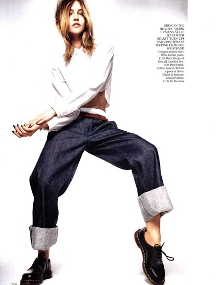 VOGUE UK Sasha Pivovarova in Demob! by Daniel Jackson. Kate Phelan, March 2011, www.imageamplified.com, Image Amplified (4)