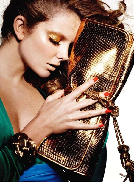 HARPER'S BAZAAR MAGAZINE Eniko Mihalik in Bold Gold by Ben Hassett. March 2011, www.imageamplified.com, Image Amplified (3)