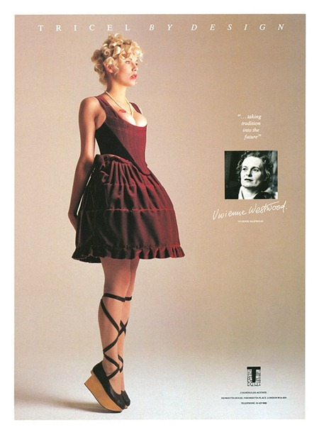 WE ♥ VIVIENNE WESTWOOD Vivienne Westwood ad for Courtaulds Tricel featuring Sara Stockbridge. 1980's, www.imageamplified.com, Image Amplified