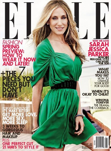 ELLE MAGAZINE Sarah Jessica Parker by Tom Munro. January 2011, www.imageamplified.com, Image Amplified (1)