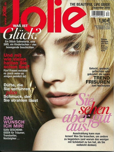 Jolie Germany Emma Watson By Photographer Rankin Image