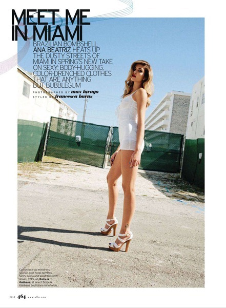 ELLE MAGAZINE Ana Beatriz Barros in Meet Me In Miami by Max Farago. February 2011, Francesca Burns, www.imageamplified.com, Image Amplified (5)