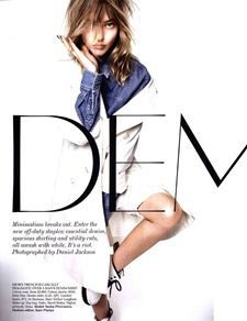 VOGUE UK Sasha Pivovarova in Demob! by Daniel Jackson. Kate Phelan, March 2011, www.imageamplified.com, Image Amplified (6)