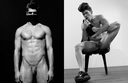 ARENA HOMME MAGAZINE Seth Kuhlmann, Brian Shimansky & Rick Genest in Anatomy of a Murder by Steven Klein. www.imageamplified.com, Image Amplified (1)