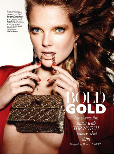 HARPER'S BAZAAR MAGAZINE Eniko Mihalik in Bold Gold by Ben Hassett. March 2011, www.imageamplified.com, Image Amplified (4)