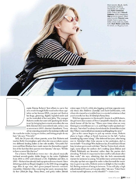 ELLE MAGAZINE Emma Roberts in Ticket To Ride by Liz Collins. Kate Lanphear, April 2011, www.imageamplified.com, Image Amplified (1)