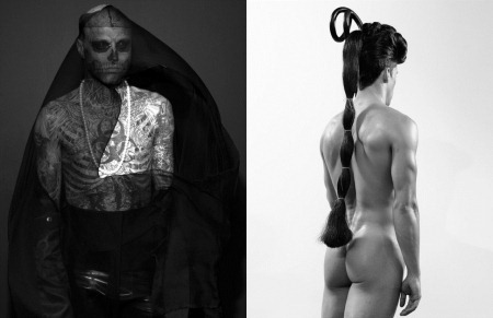 ARENA HOMME MAGAZINE Seth Kuhlmann, Brian Shimansky & Rick Genest in Anatomy of a Murder by Steven Klein. www.imageamplified.com, Image Amplified (10)