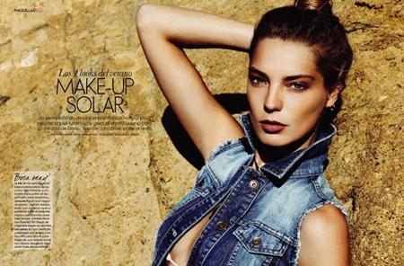 ELLE SPAIN Daria Werbowy in Make-Up Solar by Derek Kettela. Inmaculada Jimenez, May 2011, www.imageamplified.com, Image Amplified (4)