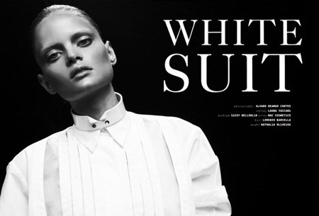 QVEST MAGAZINE Nathalia Oliveira in White Suit by Alvaro Beamud Cortes. Spring 2011, www.imageamplified.com, Image Amplified (3)